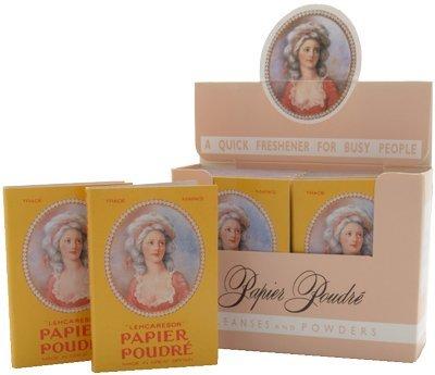 Papier Poudre Oil Blotting Papers - Rose 1 Box (12 Booklets)